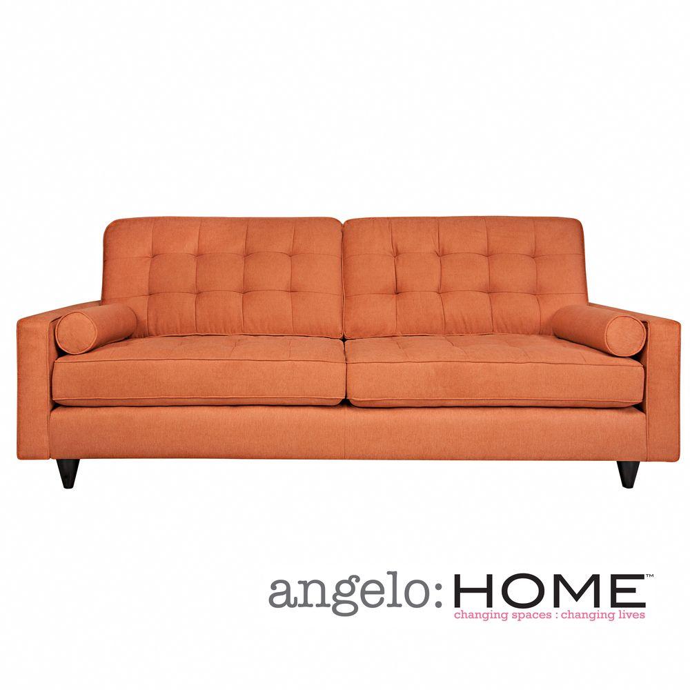 Angelo Home Laura Sofa In Parisian Rust Autumn Velvet