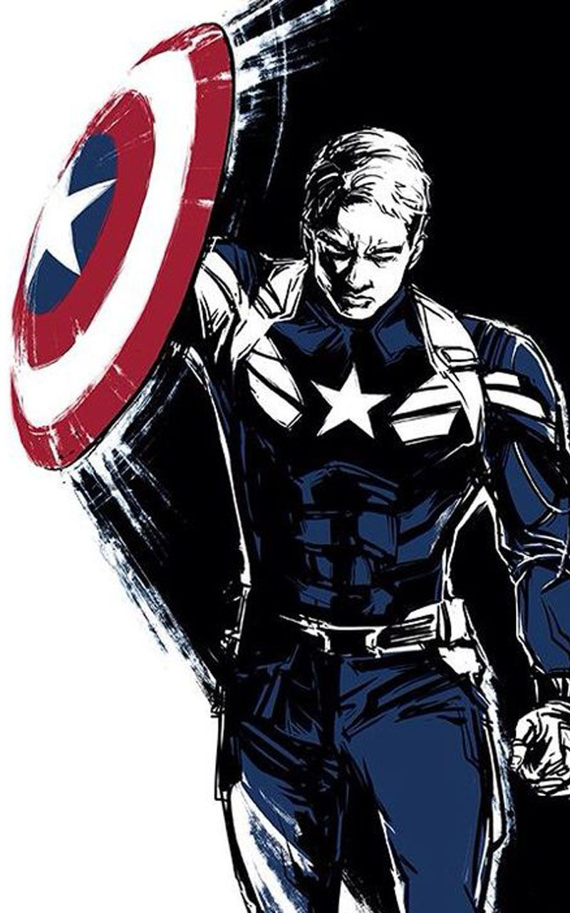 Captain America Wallpaper 4K Spiderman, Animasi, Seni