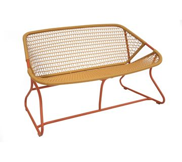 Sixties Little Bench For Outdoor Living Space Fermob Metal Garden Benches Outdoor Furniture
