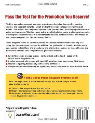 Police Sergeant Exam (Police Sergeant Exam (Learning Express - police report format