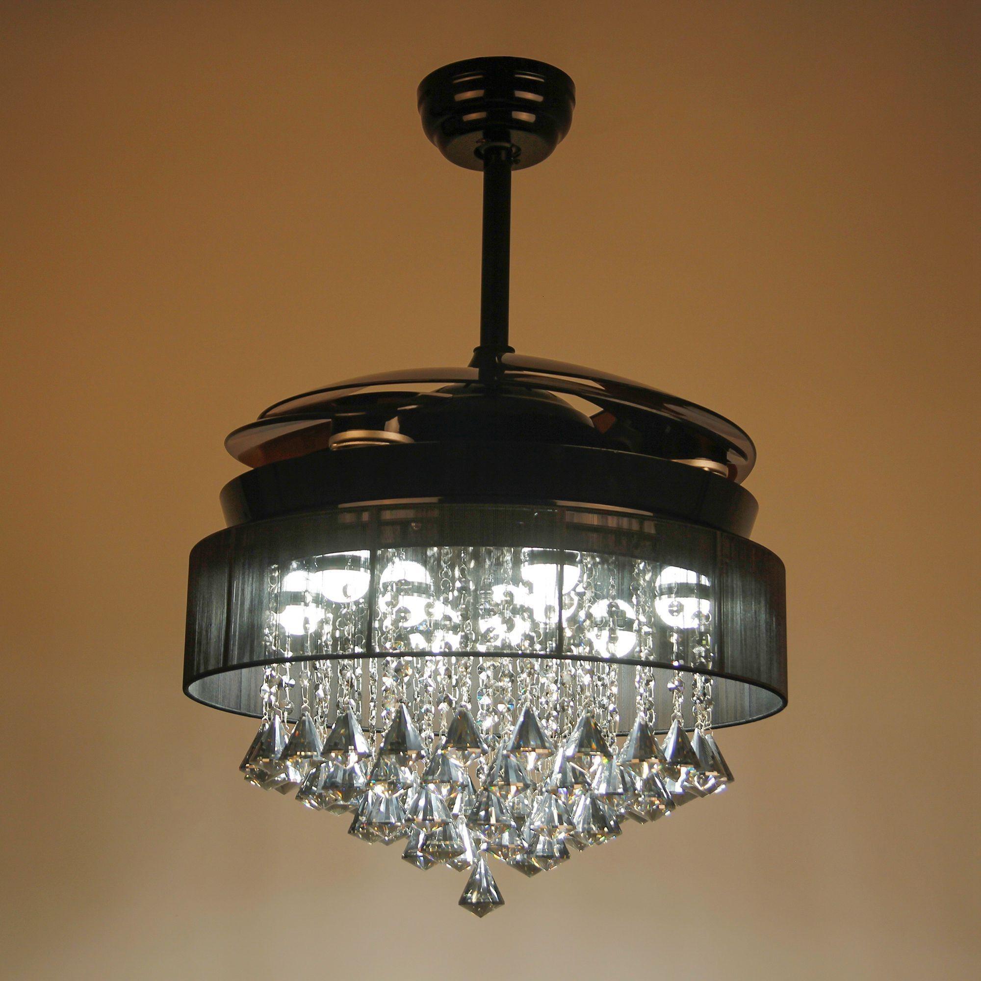 46 Broxburne Ventilateur De Plafond Avec Lumieres Led Ventilateur De Lustre En Cristal Moderne P In 2020 Chandelier Fan Modern Crystal Chandelier Ceiling Fan Shades