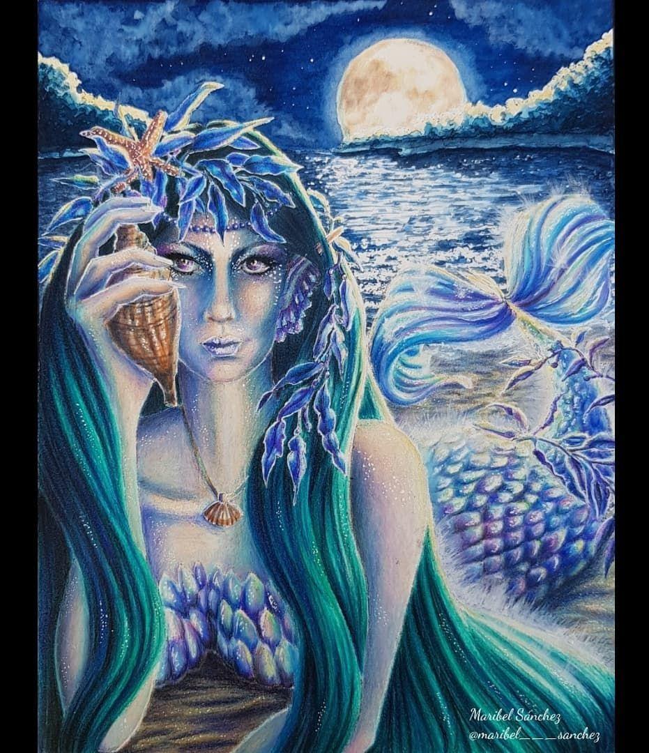 Maribel Sanchez S Instagram Profile Post Mermaid By Cynthia Kloeter Twisted Branch Studios Acuarelastitan Artezapencils Twistedbranchstudios Mycre Bilder