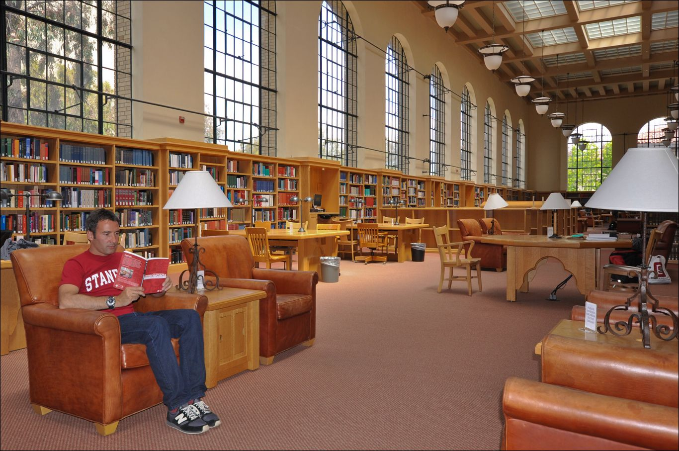 Lane Reading Room in Bing Wing of Green Library, Stanford. Love the  character and