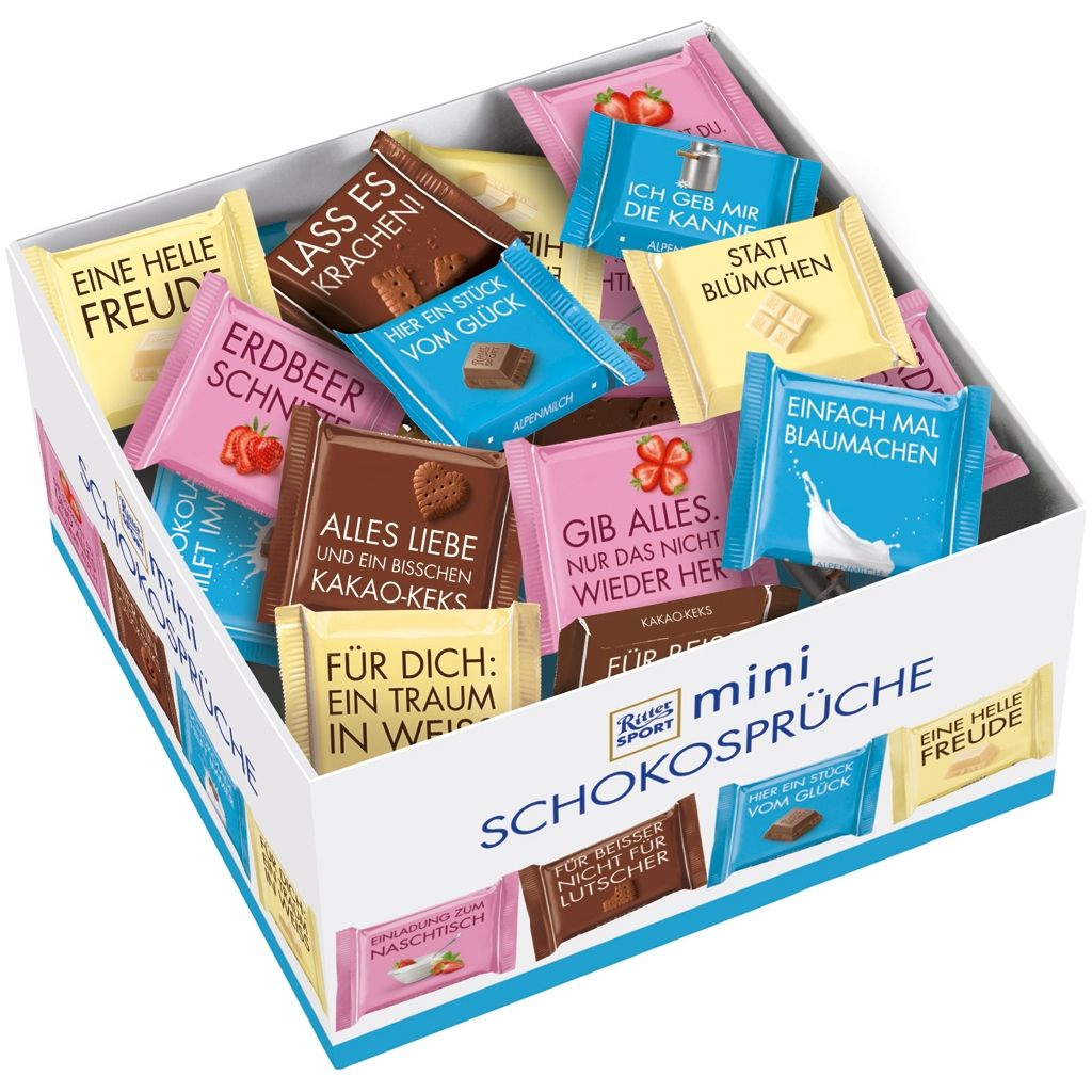 Ritter Sport Mini Chocolate Messages, 84 Pieces, Counter