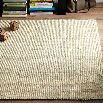 Jute Boucle Rug Ivory Modern Wool Rugs Natural Rug Jute Wool Rug