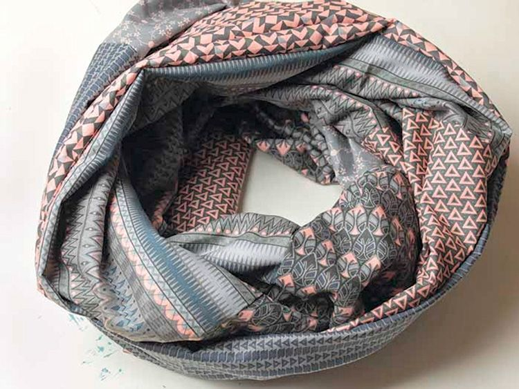 tutoriel diy coudre un foulard tube avec 6 fat quarters via fat quarters fat and. Black Bedroom Furniture Sets. Home Design Ideas