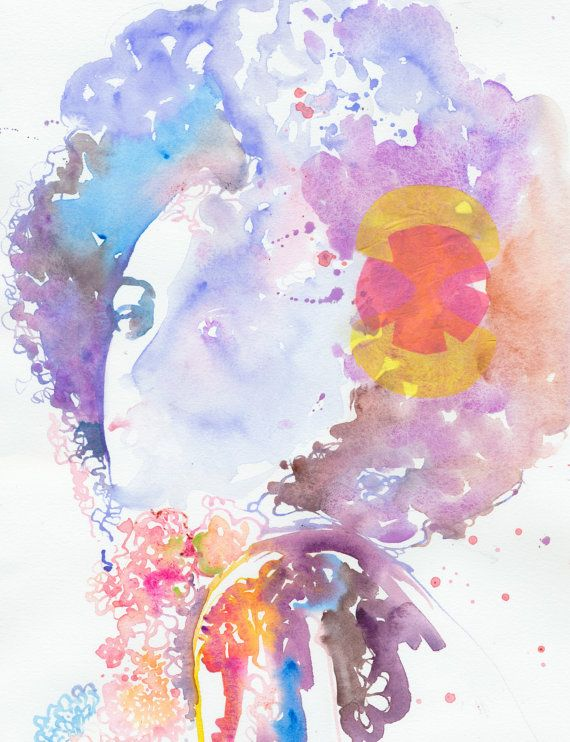 Beautiful Afro Watercolor Painting I Need You In My World Dibujos