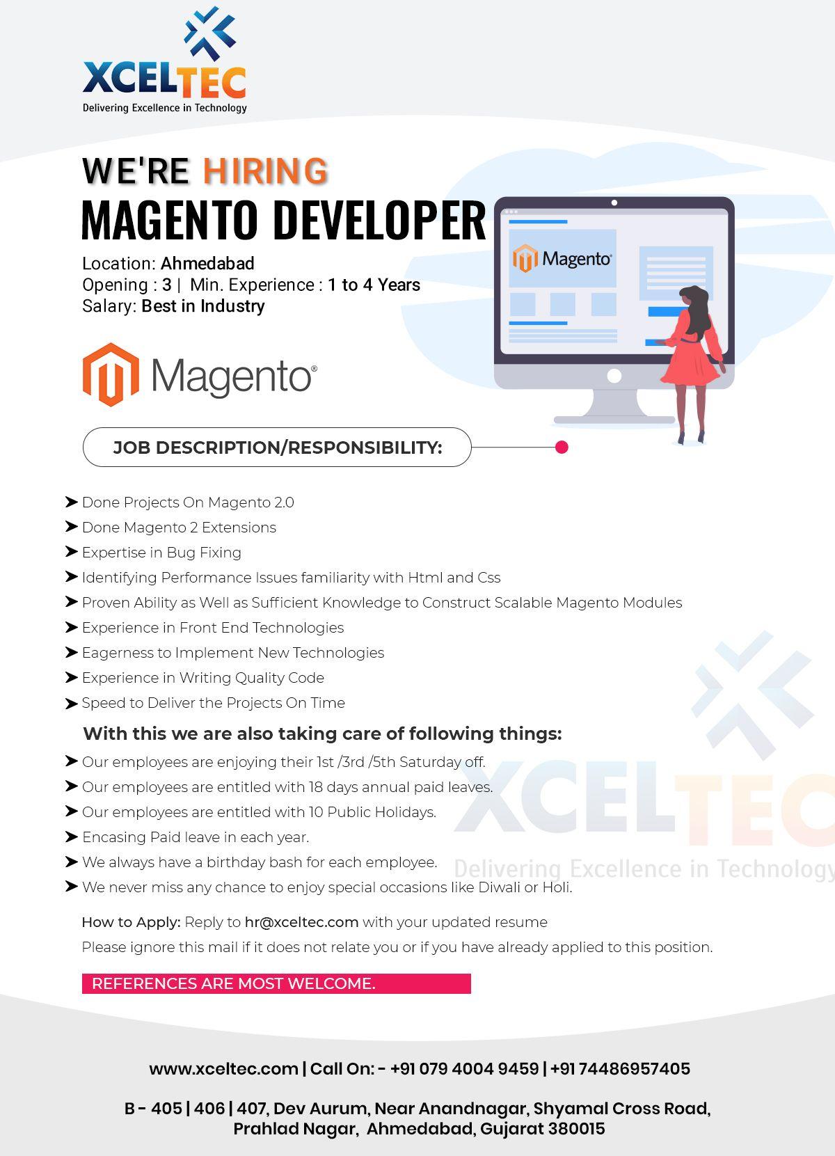 Magento Developer Job Vacancy Web Development Design Development Mobile App Development Companies