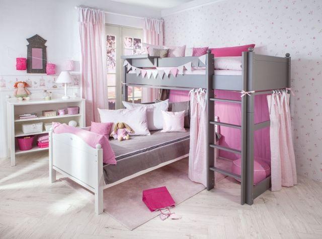 Kinderzimmer Jugendzimmer Mädchen Hochbett Etagenbett Moderne Wäsche