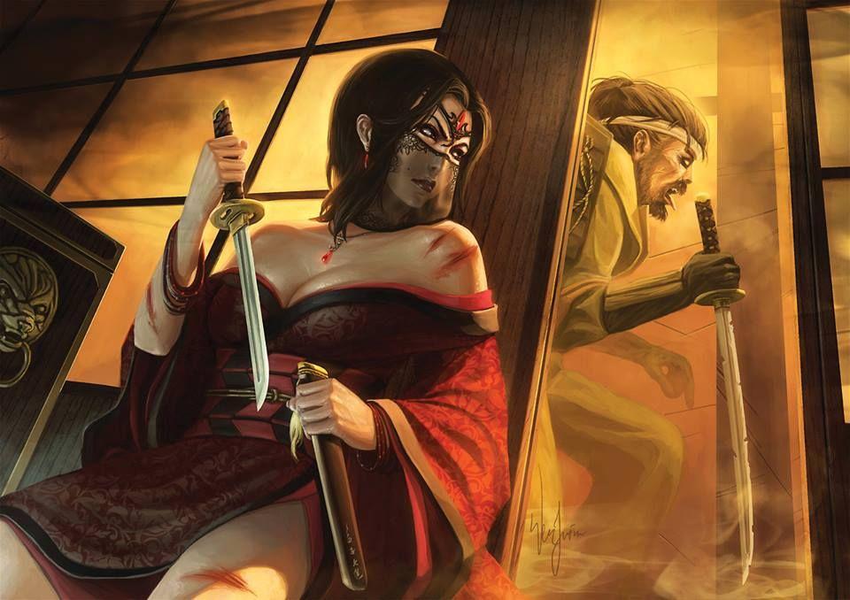Asian samurai vs big black pipe - 2 5