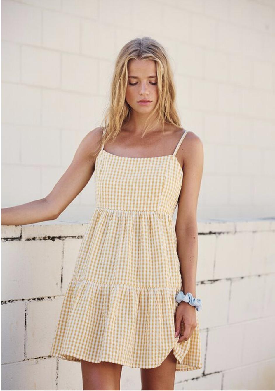 Woven Birdie Tiered Mini Dress Casual Summer Dresses Summer Dresses Cute Summer Dresses [ 1336 x 942 Pixel ]