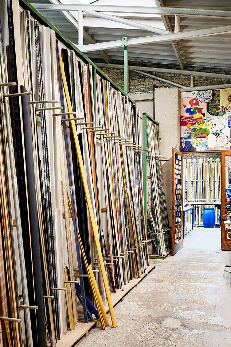Leistenlager für die Maßanfertigung von Holzrahmen | Werkstatt ...