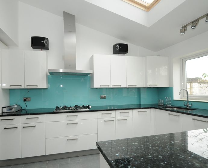 Glass splashbacks illuminate spaces with depth and Splashback tiles kitchen ideas