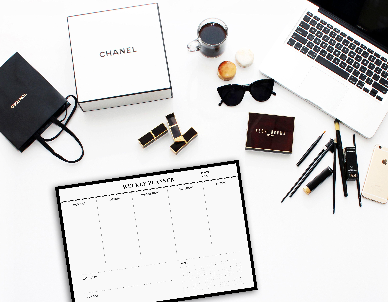 weekly planner printable planner minimalist planner planner