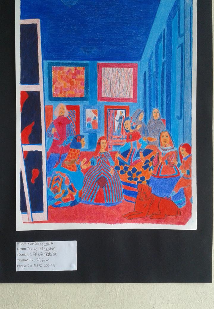 (Composición 9) Imagen de composición lápiz color contrastes