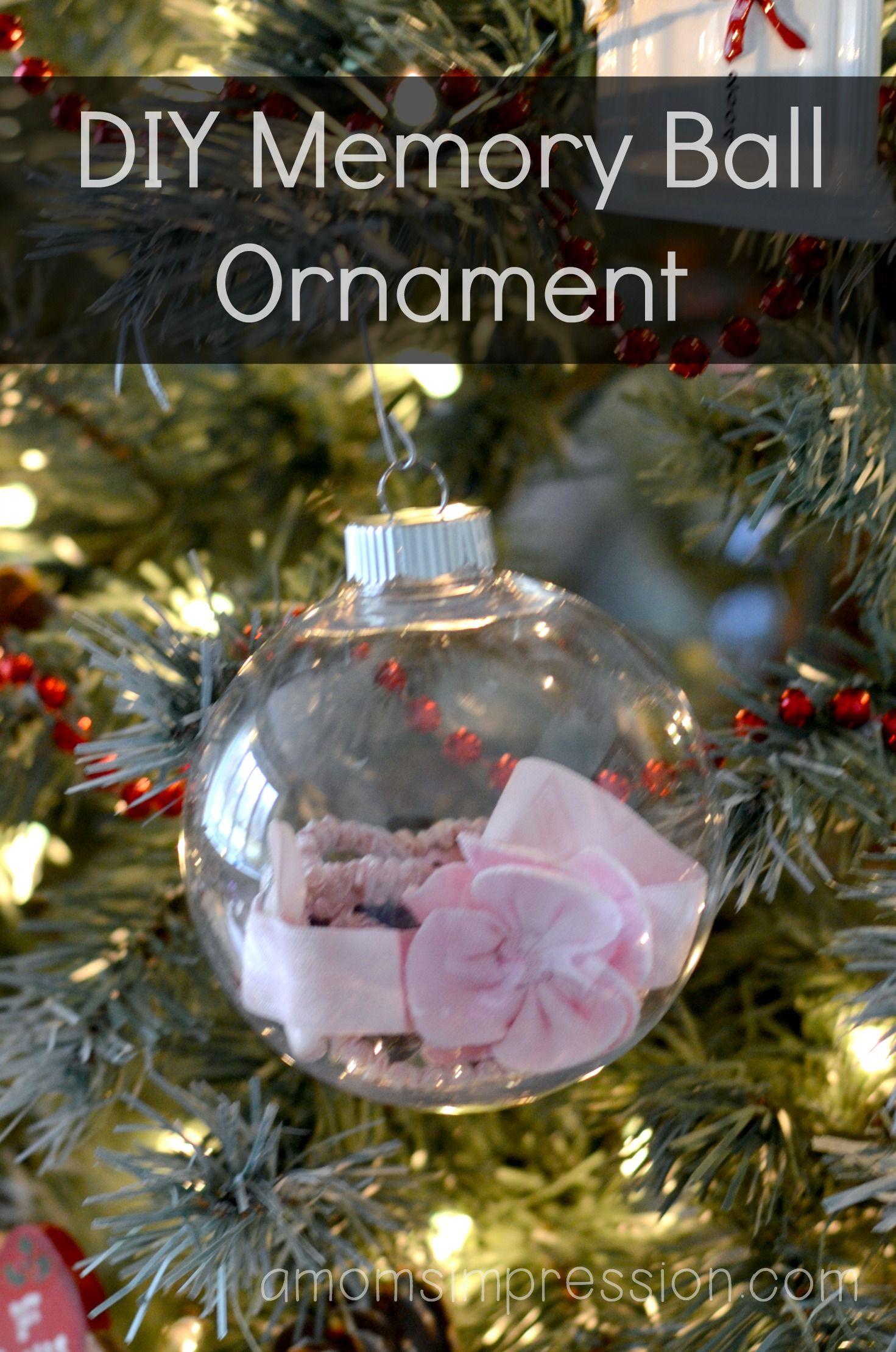 Diy Memory Ball Ornament A Mom S Impression Parenting Recipes Product Reviews Easy Ornaments Ornaments Memorial Ornaments