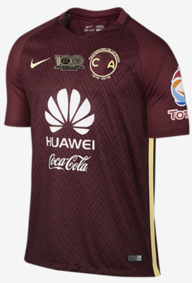 adc1f03a954 NIKE CLUB AMERICA AWAY JERSEY 2016 17 CENTENARIO PATCH.