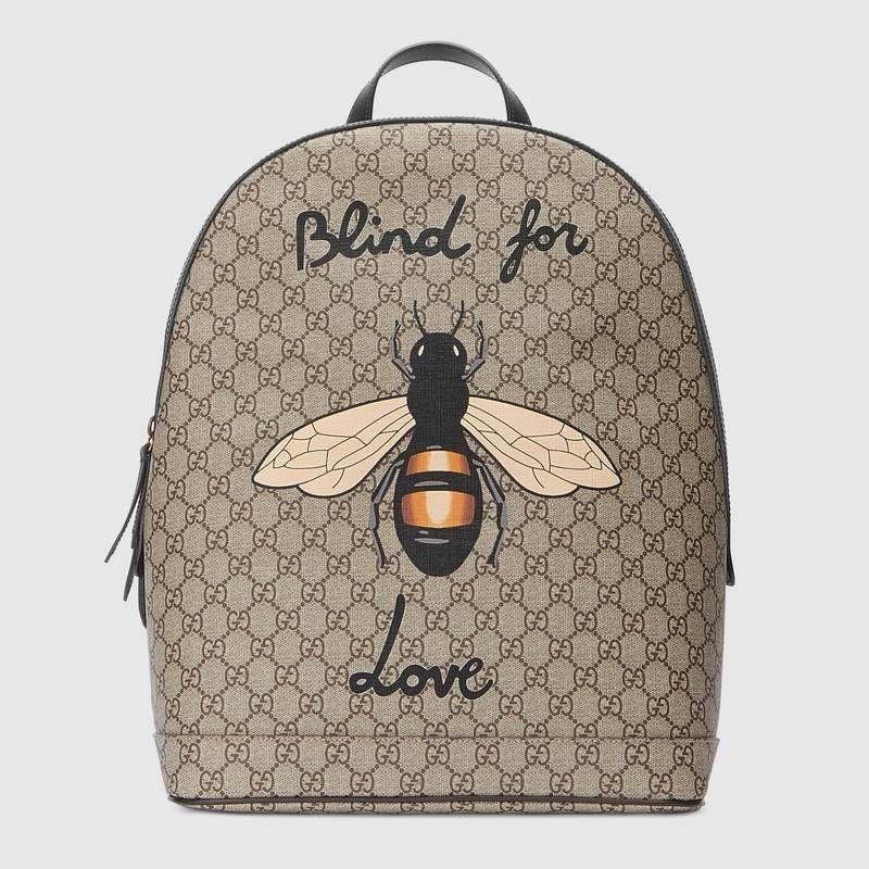 2eb8e98224f1 Explorez Sac, Sacs À Dos De Toile et plus encore ! Bee print GG Supreme  backpack