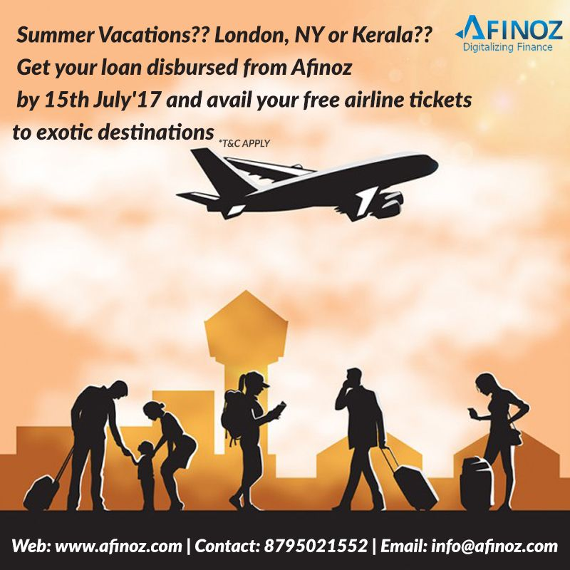 Get Your Loan Disbursed From Afinoz Enjoy Your Vacations By Availing Assured Free Airline Tickets On Your Loan Disb London Vacation Visa Canada How To Apply