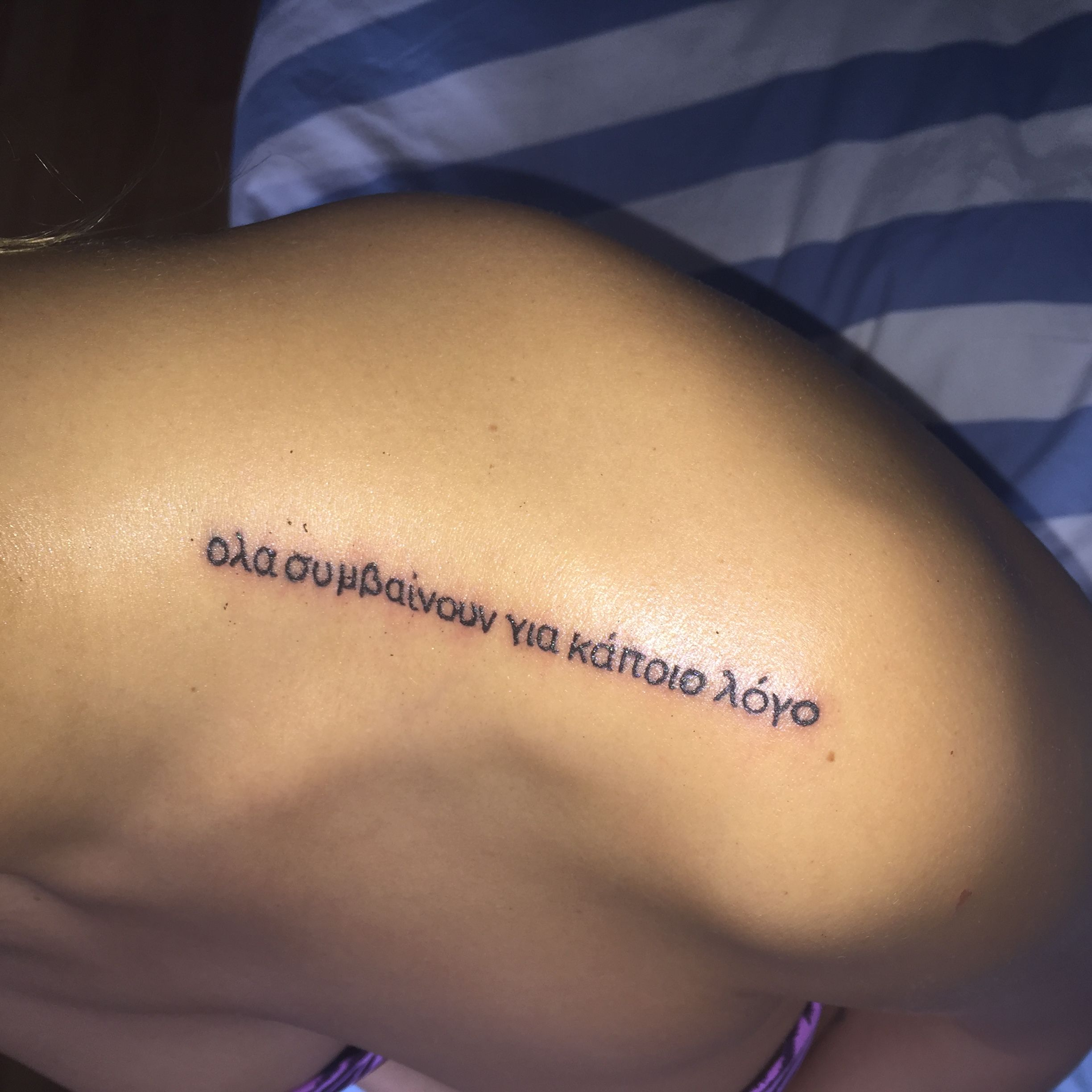 My new tattoo on my shoulder everything happens for a reason my new tattoo on my shoulder everything happens for a reason urmus Image collections