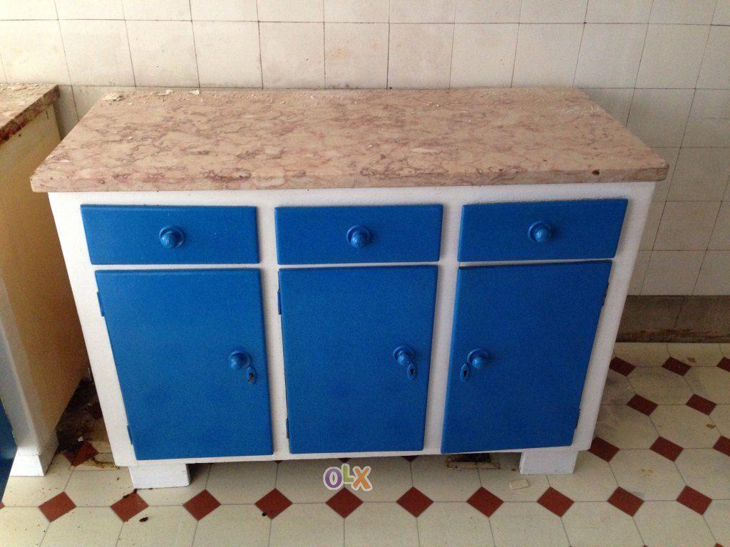 Armário de cozinha com pedra