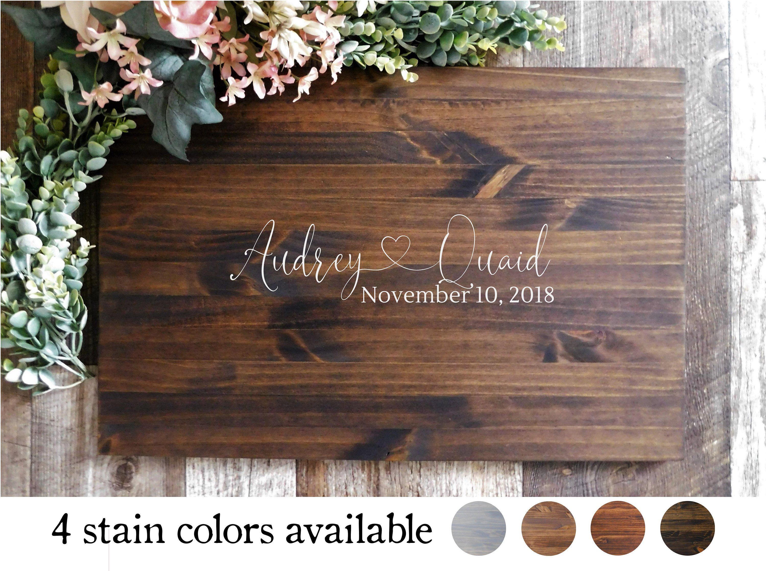 Wedding decorations wedding reception ideas november 2018 Wedding Guest Book Alternative Sign  First Names with Heart