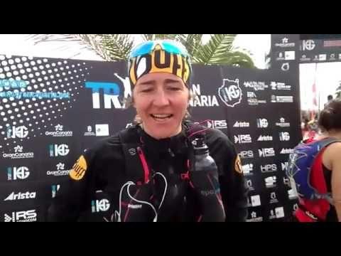 Nuria Picas, entrevista a la ganadora Maratón Transgrancanaria 2017 - YouTube