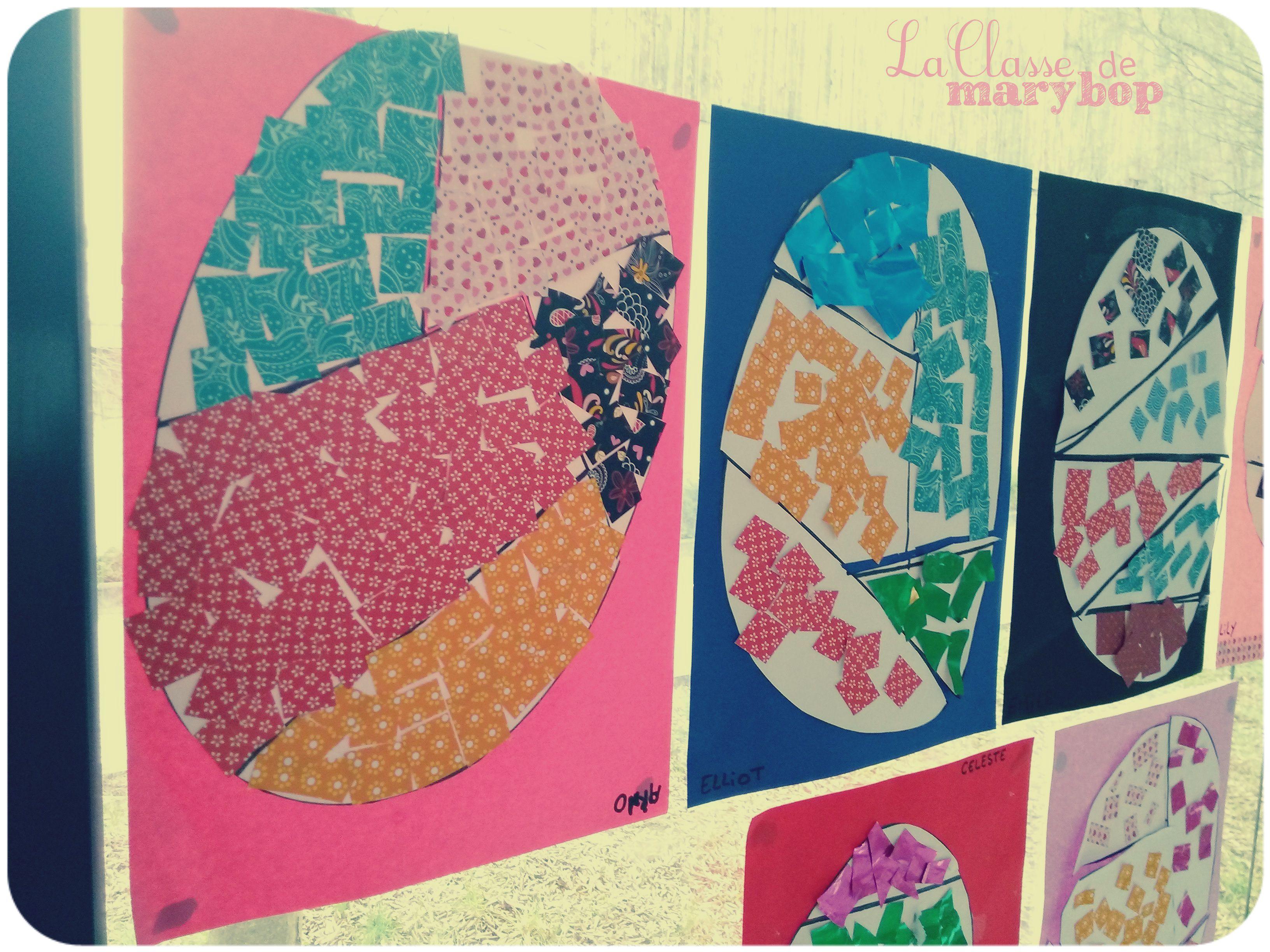 Puzzle oeufs de p ques maternelle la classe de marybop p ques pinterest easter crafts - Oeufs paques maternelle ...