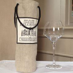 sac bouteille de vin en lin avec poign es plus couture pinterest poign e bouteille et vin. Black Bedroom Furniture Sets. Home Design Ideas