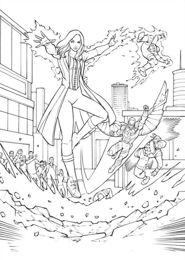 Kids-n-fun | Coloring page Captain America Civil War Captain ...