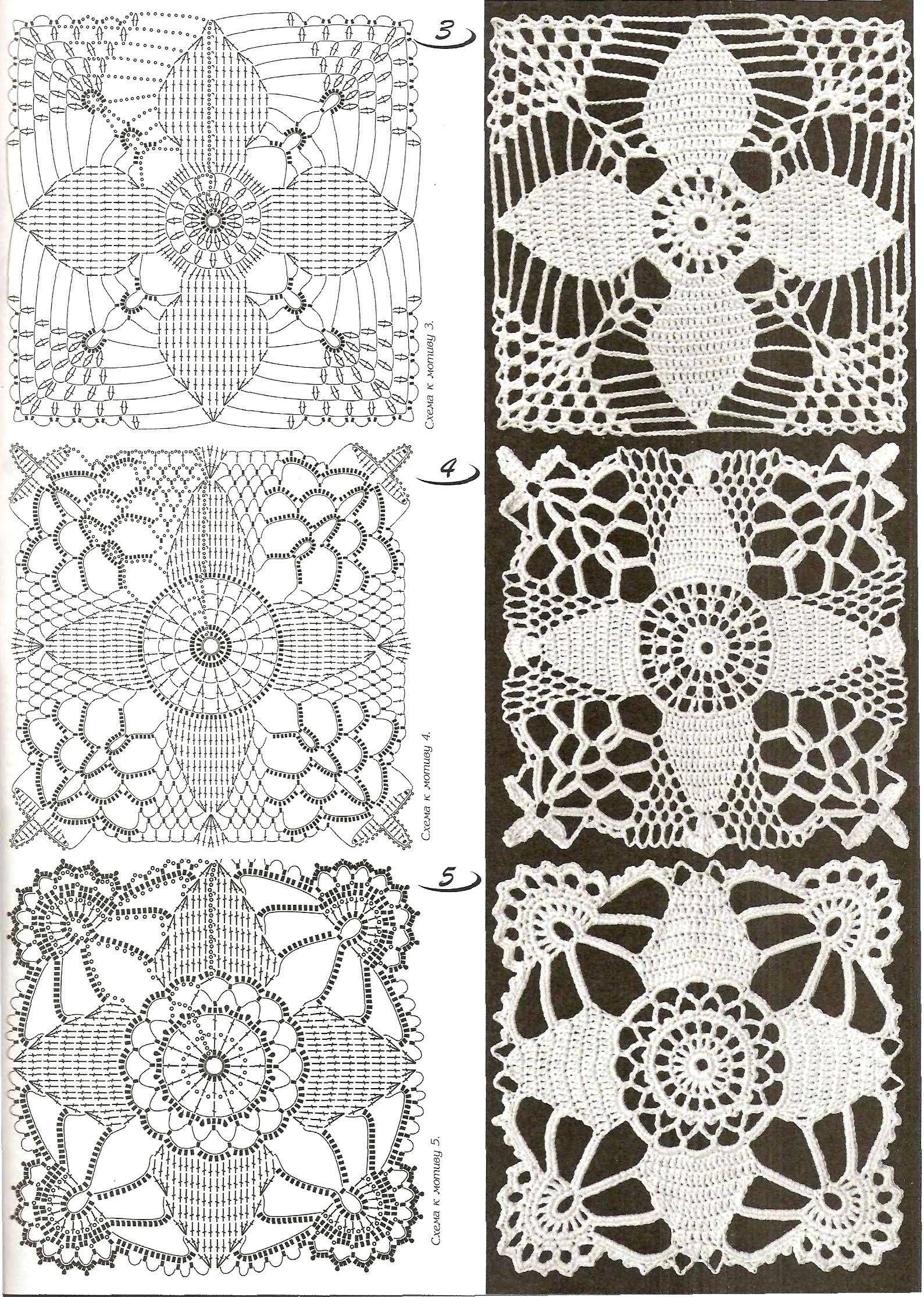 Motivos cuadrados | Crochet irlandés | Pinterest | Cuadrados ...