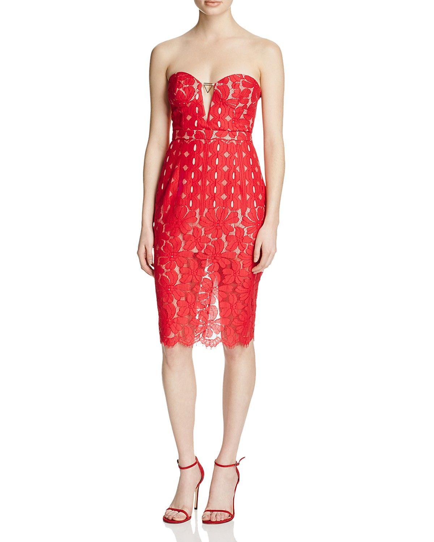 Stylestalker Cassia Lace Strapless Dress