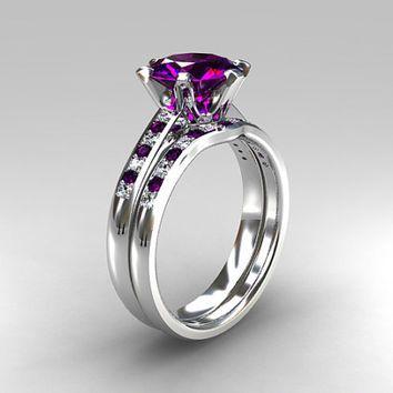 Corina Amethyst Diamond Engagement Ring Wedding Band Set With Purple 16 8d57d68bb