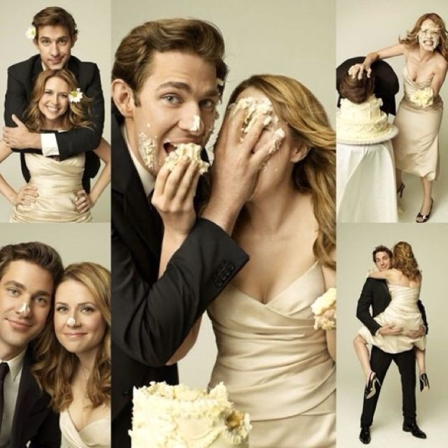 I Will Have The Jim And Pam Wedding Cake Photoshoot I Will Have It Wedding Photography Movies