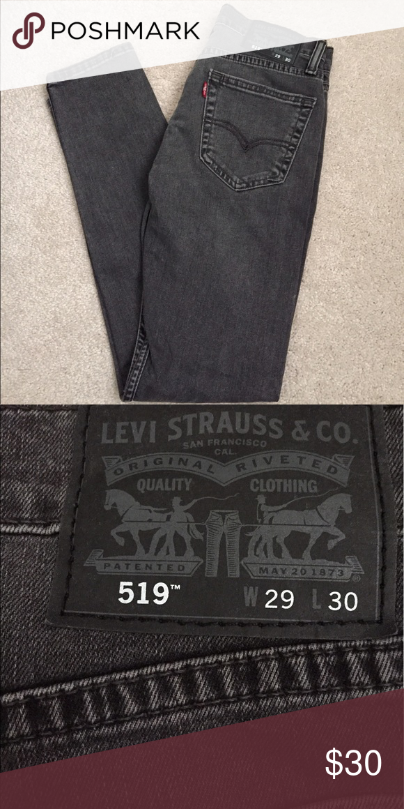 NWOT Levi's 519 Dark Gray Extreme Skinny Jeans New with out tags. Never worn or washed. Extreme Skinny Fit Stretch Jeans. Offer up! Levi's Jeans Skinny
