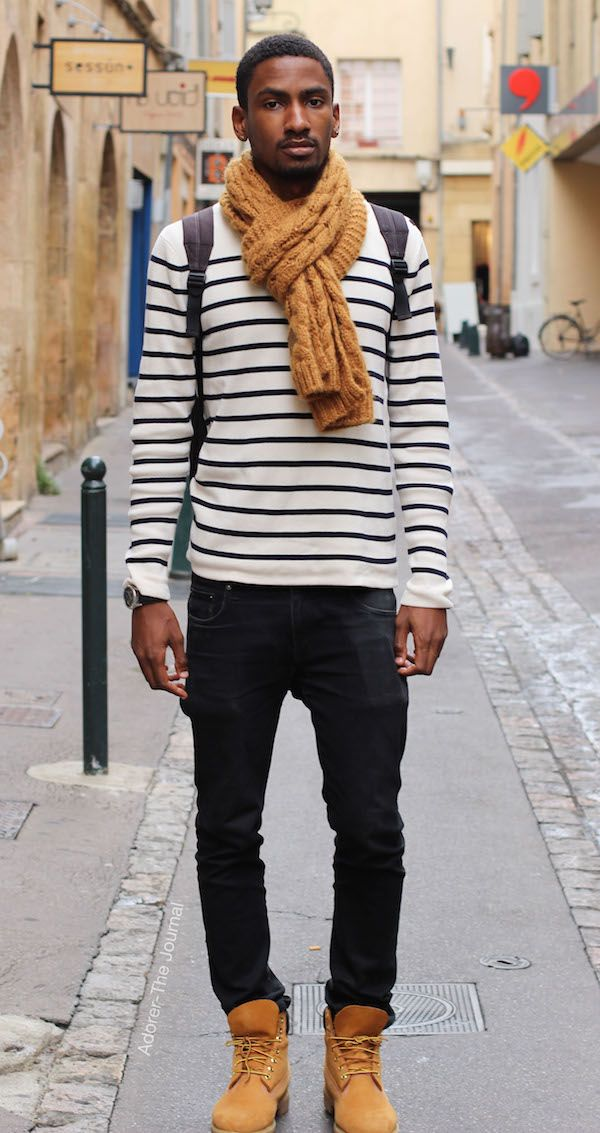 Streetstyle Man In Stripes Find This Pin And More On French Street Style