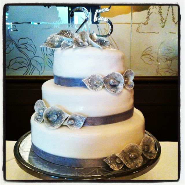 25th Wedding Anniversary Cake Ideas: 25th Wedding Anniversary Cake