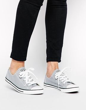 02516de06617 Enlarge Converse All Star Dainty Lucky Stone Plimsoll Trainers