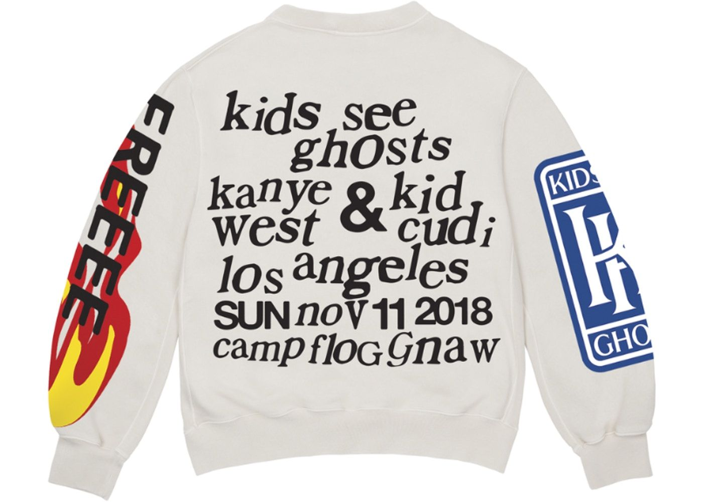 Kids See Ghosts Freeee Crewneck Sweatshirt Ghost In 2020 Sweatshirts Crew Neck Sweatshirt Alternative Fashion
