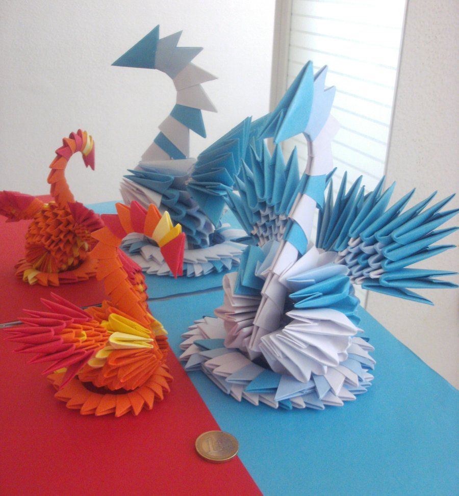 Fire And Ice 3d Origami Swans By Sophieekard On Deviantart My 3dorigamiswandiagram Dragon Diagram Dragons