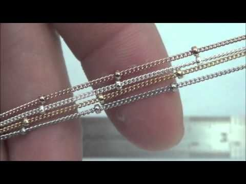 Gold Filled 17mm Satellite Chain by Foot Available in Sterling