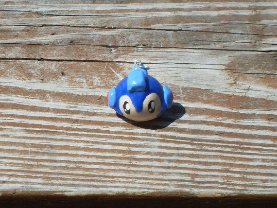 Mega Man Polymer Clay Charm by TheCraftDr on Etsy
