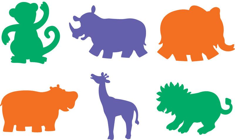 graphic relating to Printable Animal Stencils titled printable jungle animal stencils for Do-it-yourself wall artwork Nursery