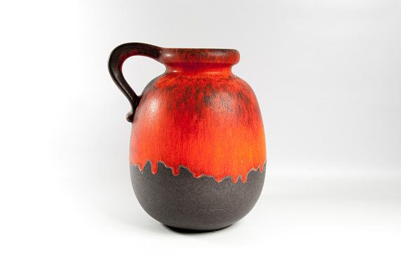 Extra Large Vase Fat Lava Vase Floor Vase West German Pottery