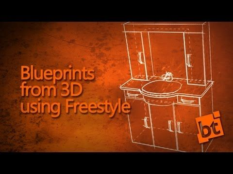Using freestyle non photorealistic rendering with blender to using freestyle non photorealistic rendering with blender to achieve a blueprint style malvernweather Image collections