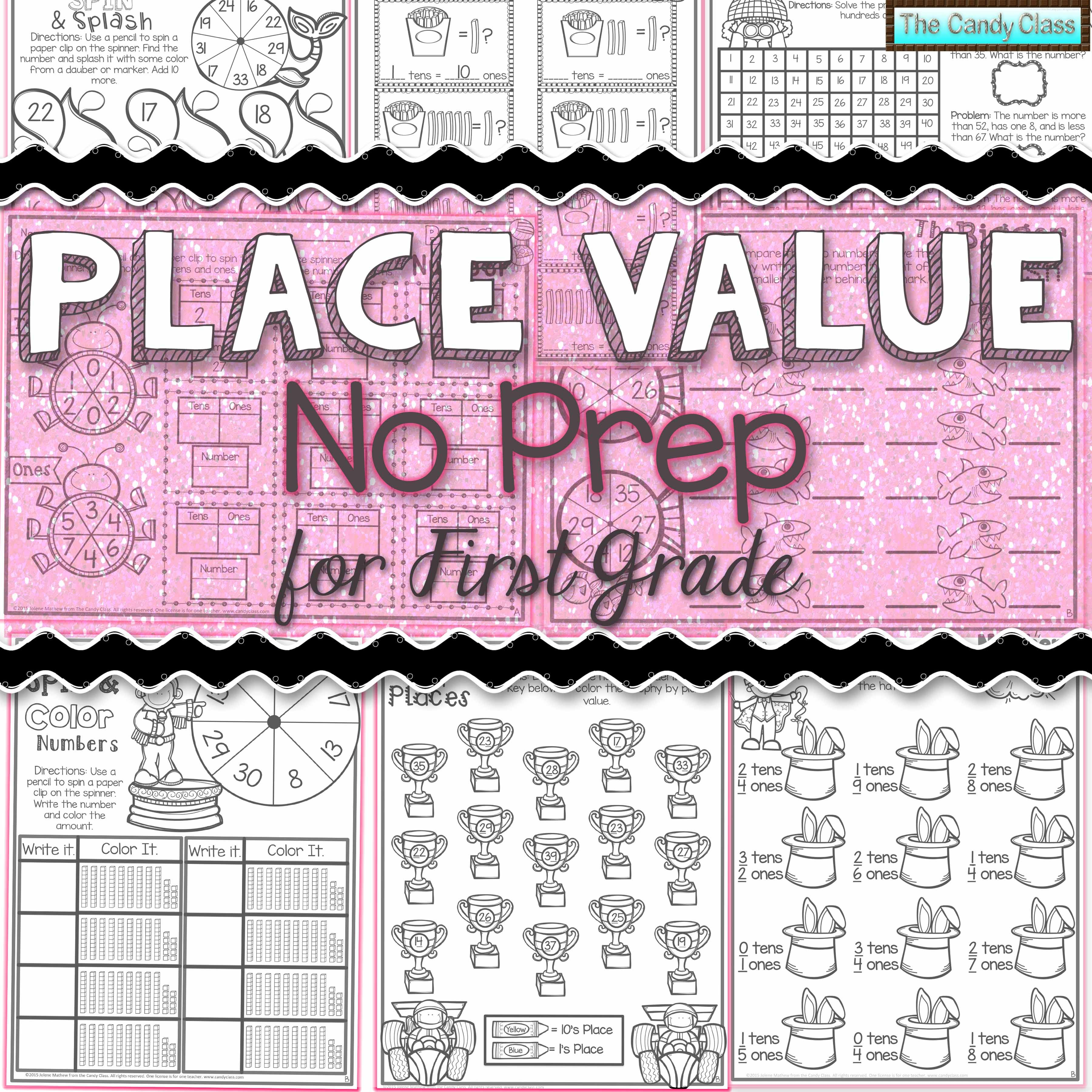 1st Grade Math Worksheets Place Value Activities