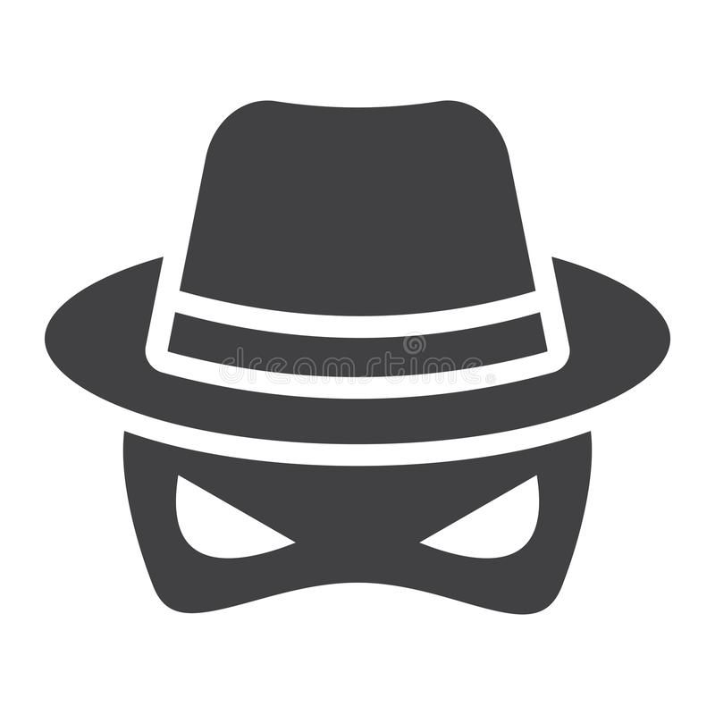 Spy Solid Icon Incognito And Agent Vector Graphics A Glyph Pattern On A White Ad Incognito Agent Vector Vector Graphics Vector Illustration Vector