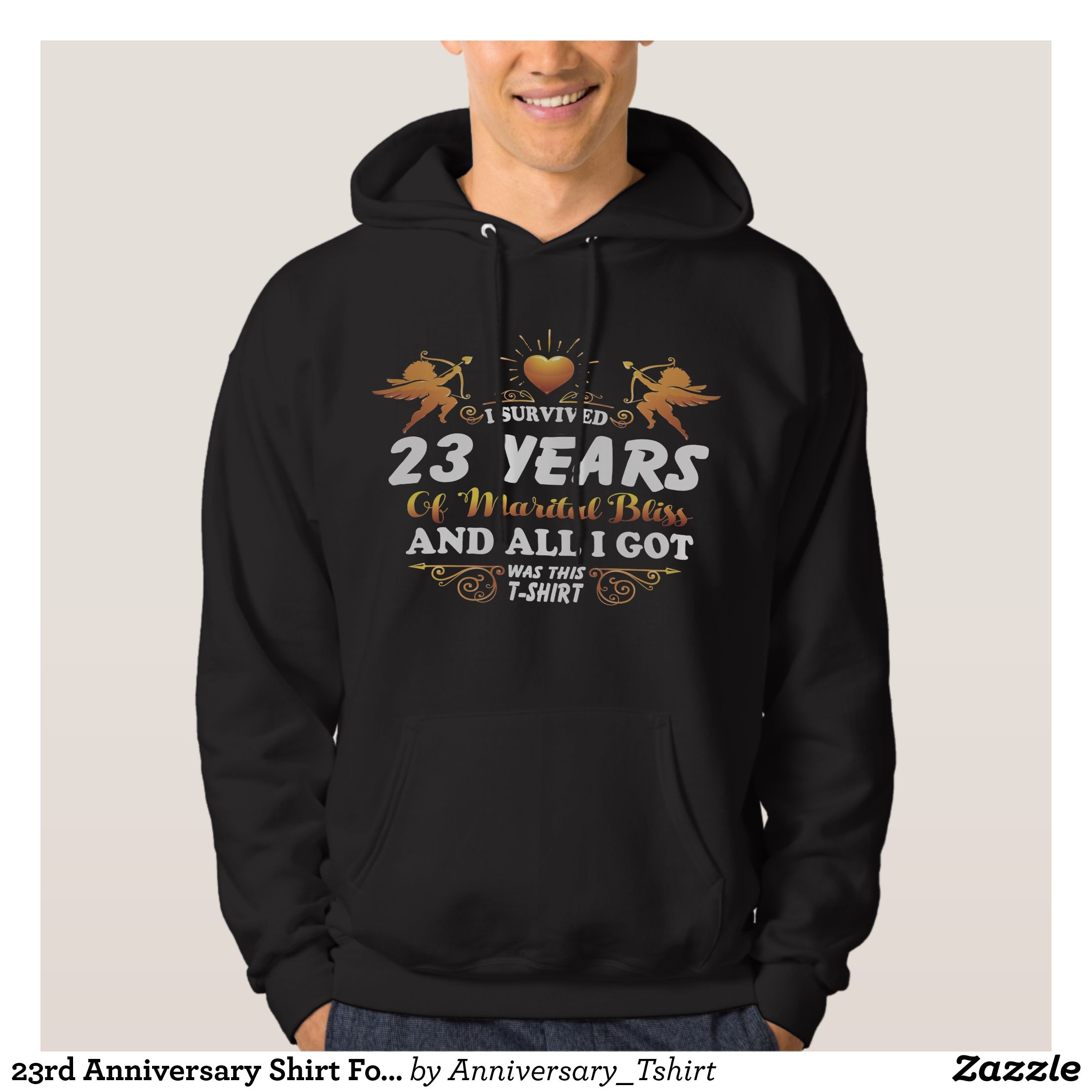 23rd anniversary shirt for husband wife stylish