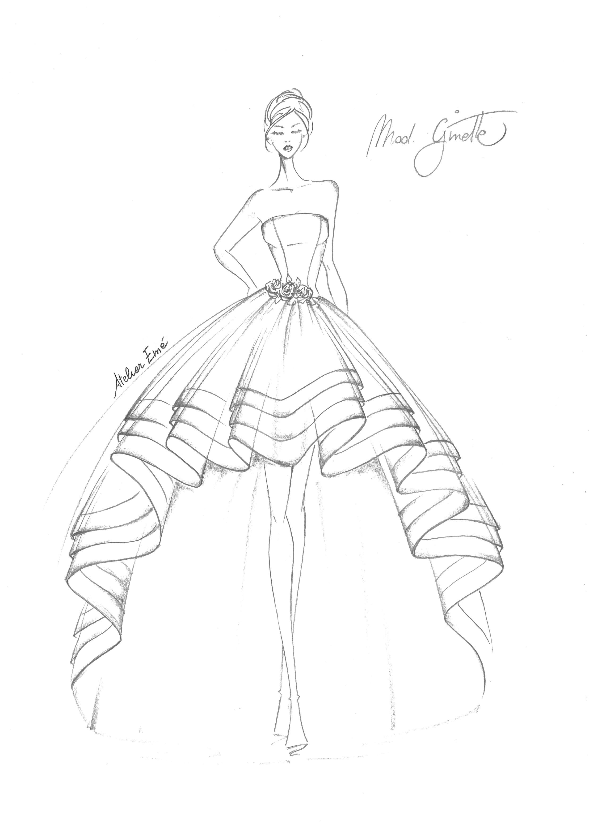 Ginette Atelier Em 233 深喜欢 Deep Love Fashion Sketches