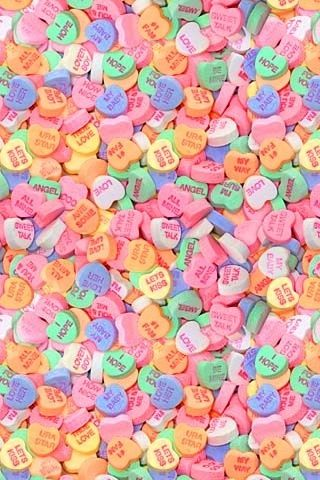 Candy Hearts I Used To Collect Candy Heart Items Valentines Wallpaper Sweetheart Candy Valentine Day Crafts